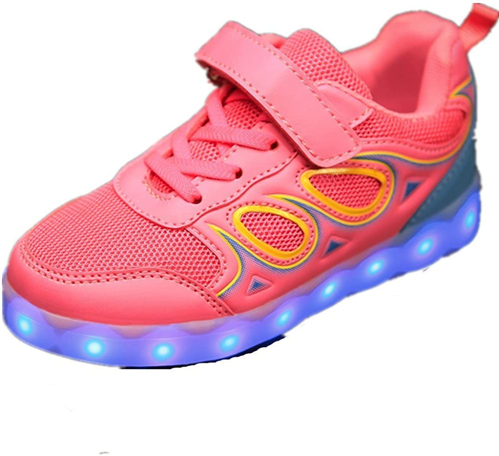 Believed Breathable LED Light Up Shoes USB Sneakers for Kids Boys Girls