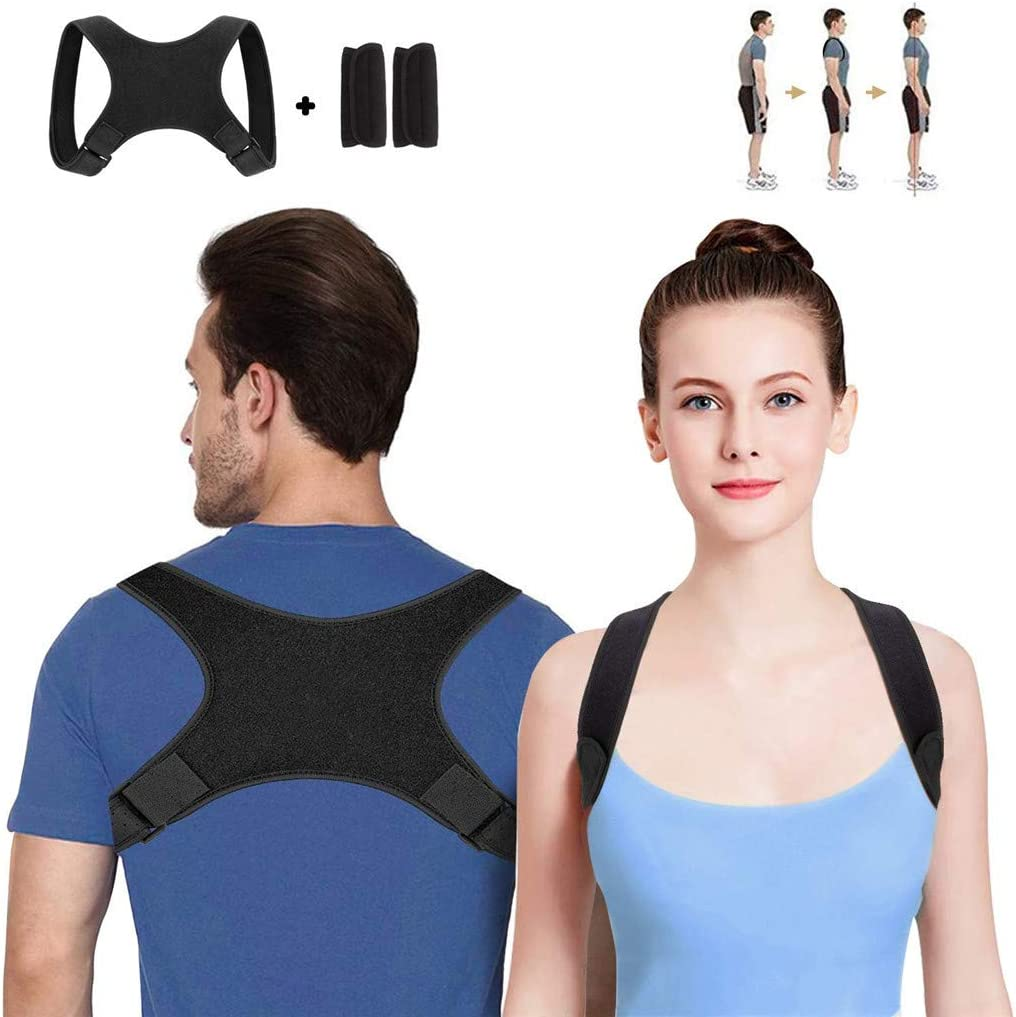 S YunZyun Back Posture Corrector Magnetic Shoulder Corrector Support Brace Belt Therapy for Men and Women