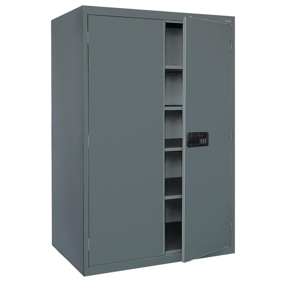 Sandusky Lee EA4E462478-02 Elite Series Keyless Electronic Welded Storage Cabinet, 46'' Width x 24'' Length x 78'' Height, Charcoal