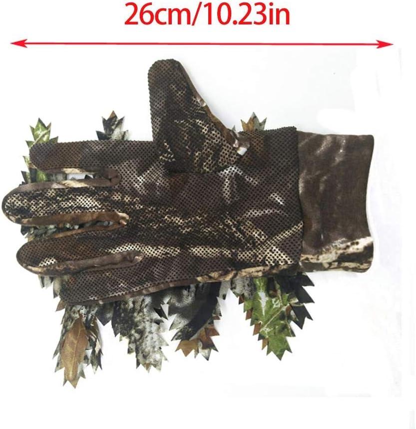 Lobservation des Oiseaux pour La Chasse flower205 Gants De P/êche La Photographie en Plein Air Gants De Chasse en Plein Air Gants De Chasse Camoufl/és Plein Doigts avec Un Design en Feuille 3D