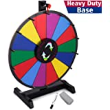 T-SIGN 18 Inch Heavy Duty Table Prize Wheel Spin, 14 Slots Color Spinning Prize Wheel Spinner with Dry Erase Marker and…