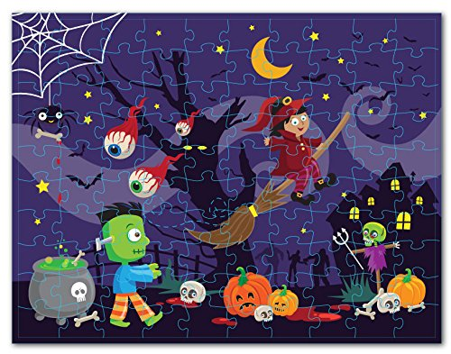 Floor Puzzles - 100-Piece Giant Floor Puzzle, Halloween Themed Jumbo Preschool Jigsaw Puzzles for Toddlers, Toy Puzzles for Kids Ages 3 and Up, 2.25 x 3 Feet