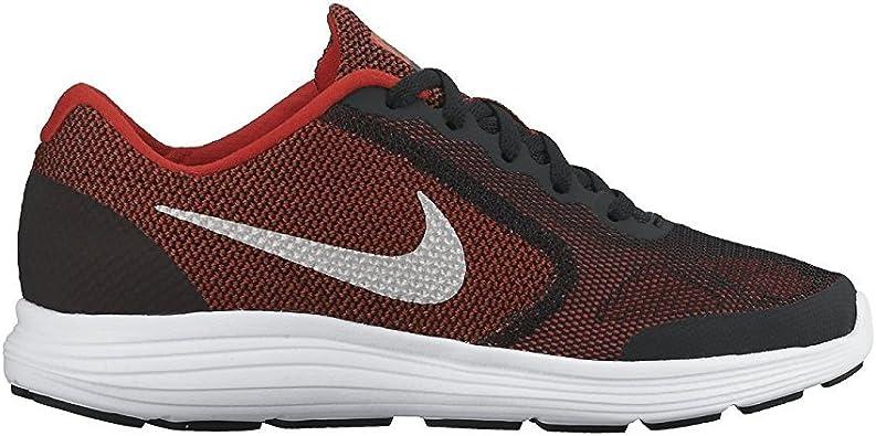 Nike Revolution 3 Wide (GS), Zapatillas de Running para Hombre, Rojo (Rojo (University Red/Metallic Silver-Black), 38.5 EU: Amazon.es: Zapatos y complementos