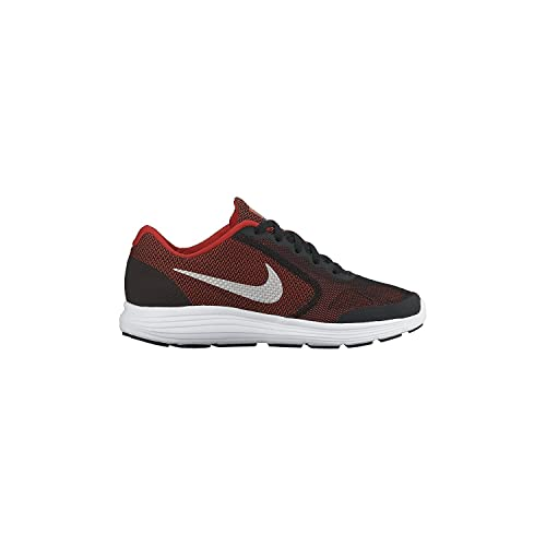 4fcf8a42d7 Nike Boy s Revolution 3 Wide (GS) Running Shoe Red Black White Metallic  Silver Size 7 Wide US  Amazon.in  Shoes   Handbags