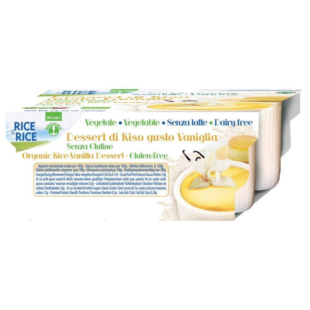 Rice & Rice Postre Crema de Arroz y Vainilla - 6 Paquetes de 4 ...
