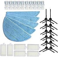 5pcs Mop Cloth + 12pcs side Brush + 6pcs hepa Filter + 10pcs magic paste for chuwi Robot Vacuum Cleaner ilife V5 V3 series ilife v5pro X5 v5s ilife v5 pro