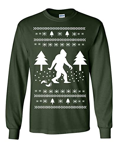 Amazon Com 359 Sasquatch Long Shirt Ugly Christmas Sweater Party