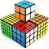 FAVNIC スピードキューブ 4個入り 競技向け ver2.1ポップ防止 世界基準配色 立体パズル おもちゃ (セット2〜5)