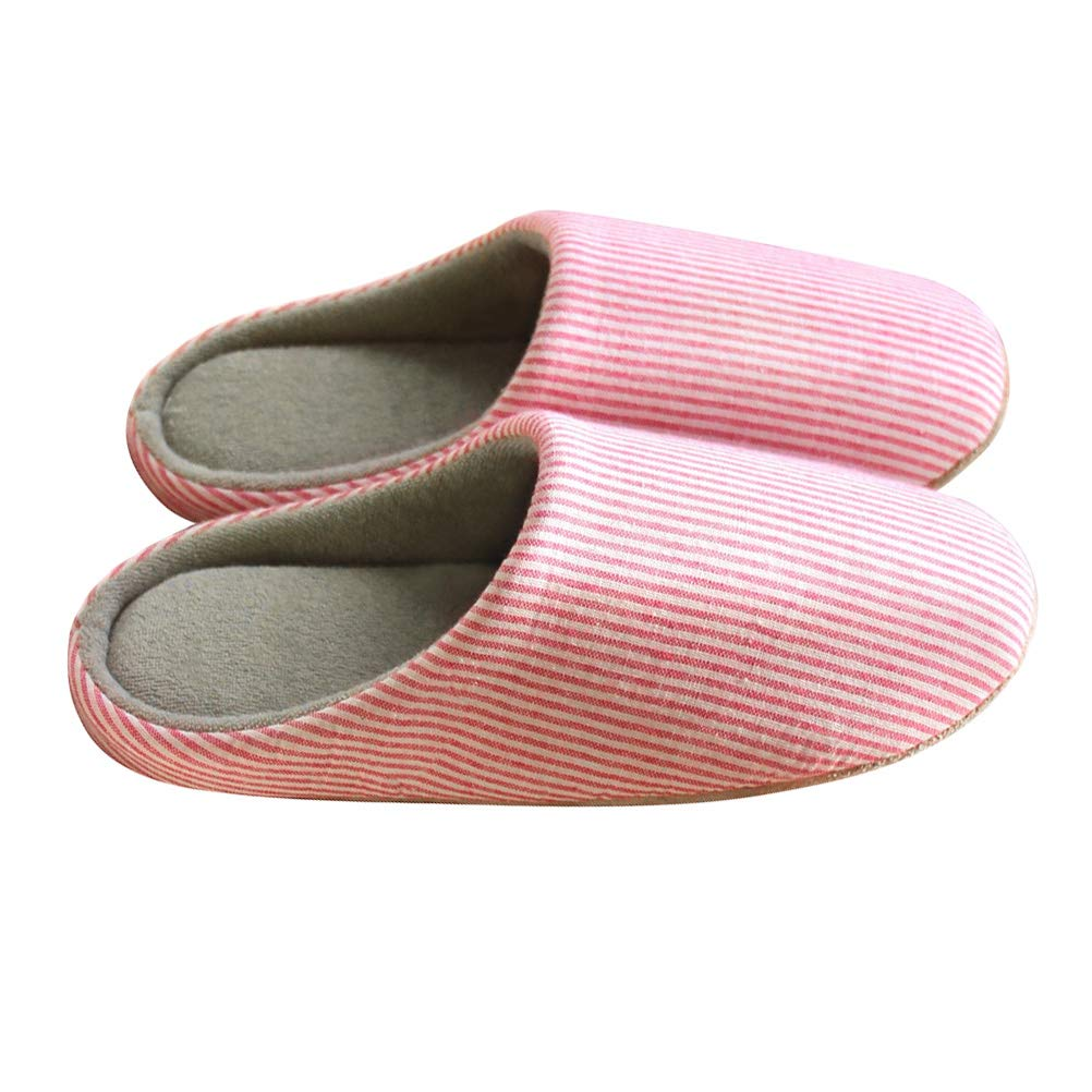 LUOEM Slippers winter warm plush slippers indoor cozy furry house anti-slip slippers for lady women