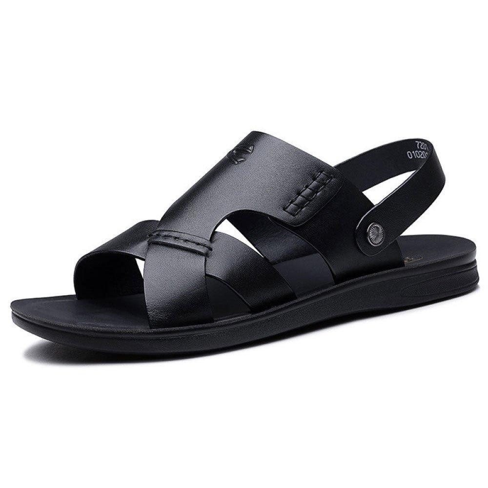 Sandalias De Los Hombres Sandalias Respirables Zapatos Ocasionales De La Playa del Verano 40 EU Black