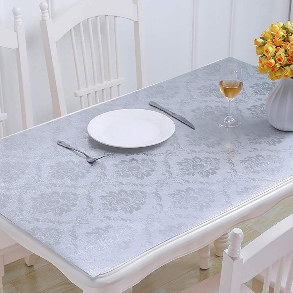 Hongsebuyi Tischdecke PVC Transparent Weichplastik Tischdecke Antifouling Verbrühungsschutz Tee Tischdecke Kaffee Tischdecke Dicke 1 MM (größe   80x80cm) B07NWQC9NN Tischdecken Angenehmes Aussehen  | Good Design
