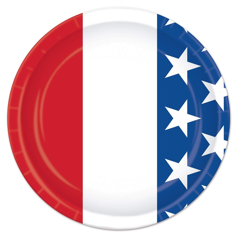 Patriotic Independence Day Dessert 7 Plates Bundle 16 16 and Beverage Napkins