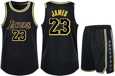 Lebron James # 23 Kobe Bryant # 24 Lakers Basketball Jersey Hombre Camisetas + Shorts Traje - Sudadera sin Mangas de Secado rápido de Malla para niños/Adultos: Amazon.es: Ropa y accesorios