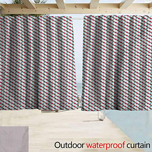 - DocGike Retro Outdoor Curtains Contigous and Colorful Flower Petals On The Bias Pattern with White Backdrop Print Great for Living Rooms & Bedrooms W55 xL72 Multicolor