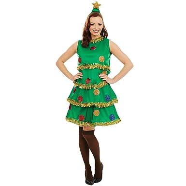 Fun Shack Verde Árbol De Navidad Disfraz para Mujeres - S: Amazon ...