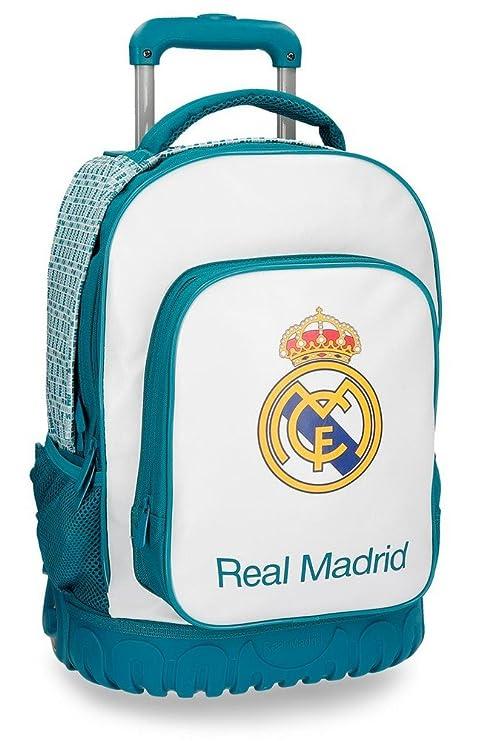 Real Madrid RM Leyenda Equipaje de Mano, 50 cm, 33.6 litros, Blanco