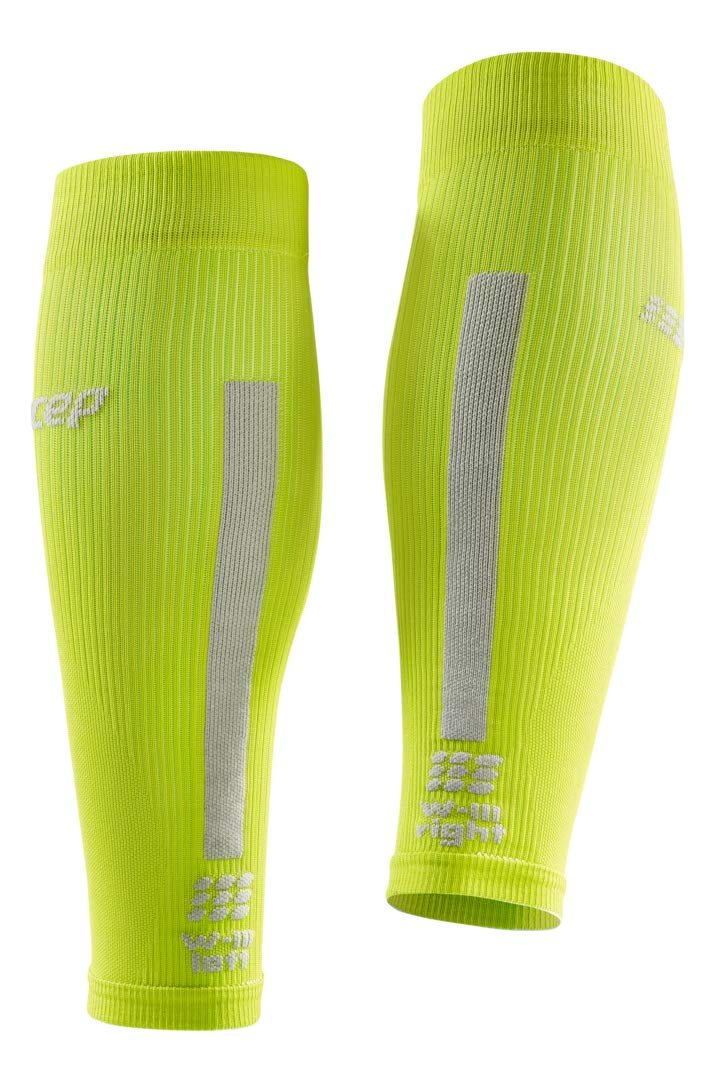 CEP Women's Compression Run Sleeves Calf Sleeves 3.0, Lime/Light II by CEP (Image #4)
