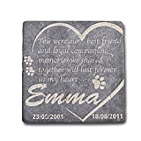 Personalized Memorial Pet Headstone Best Friend and Loyal Companion Negro Marquina