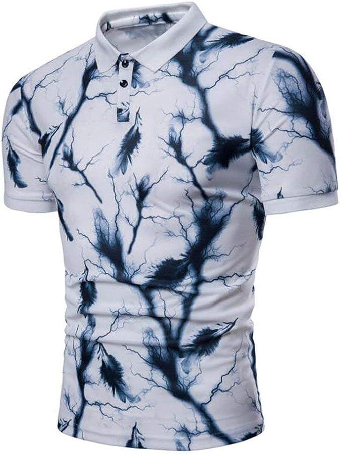 Polo Camisa para Hombre De Verano Moda Polo Retro De Gran ...