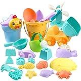 StillCool 26pcs Kids Beach Sand Toys Set, Includes Sand Water Wheel, Castle Molds, Truck Bucket, Beach Shovels RakesTool…