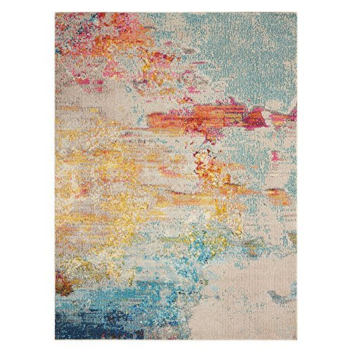 """Nourison Celestial Modern Abstract Area Rug, 7'10"""" x 10'6"""", Multicolor Grey (8'x10') from Nourison"""