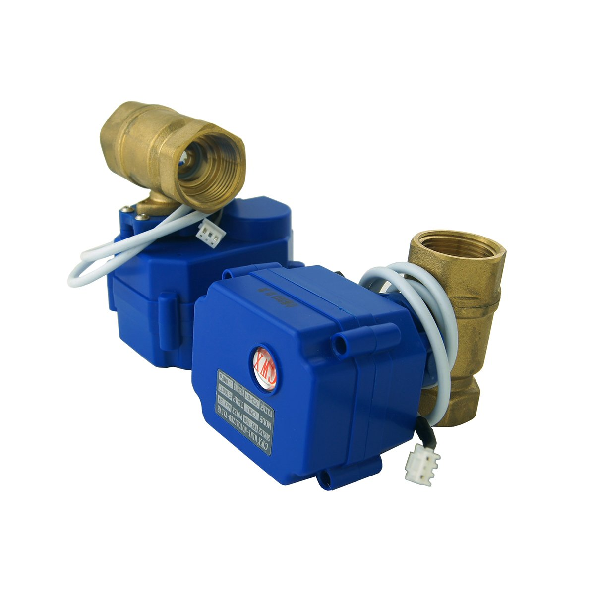 E-SDS Automatic Water Leak Shut Off Valve System,Water Leak Detector with 2 Valves,2 Sensors and Sounds Alarm,for Pipes 3/4 NPT,Flood Prevention for ...