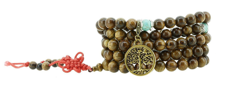 108 Tibetan Wooden Yoga Meditation Prayer Beads Mala Necklace Wrap Bracelet