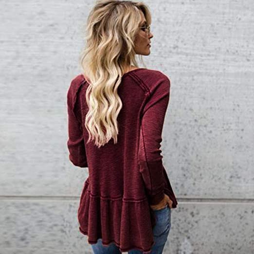 Amazon.com : Clearance!HOSOME Women Top Womens Autumn Fashion Women Loose Kitted Casual Sweater Ladies Long Sleeve Knitwear Tops : Grocery & Gourmet Food