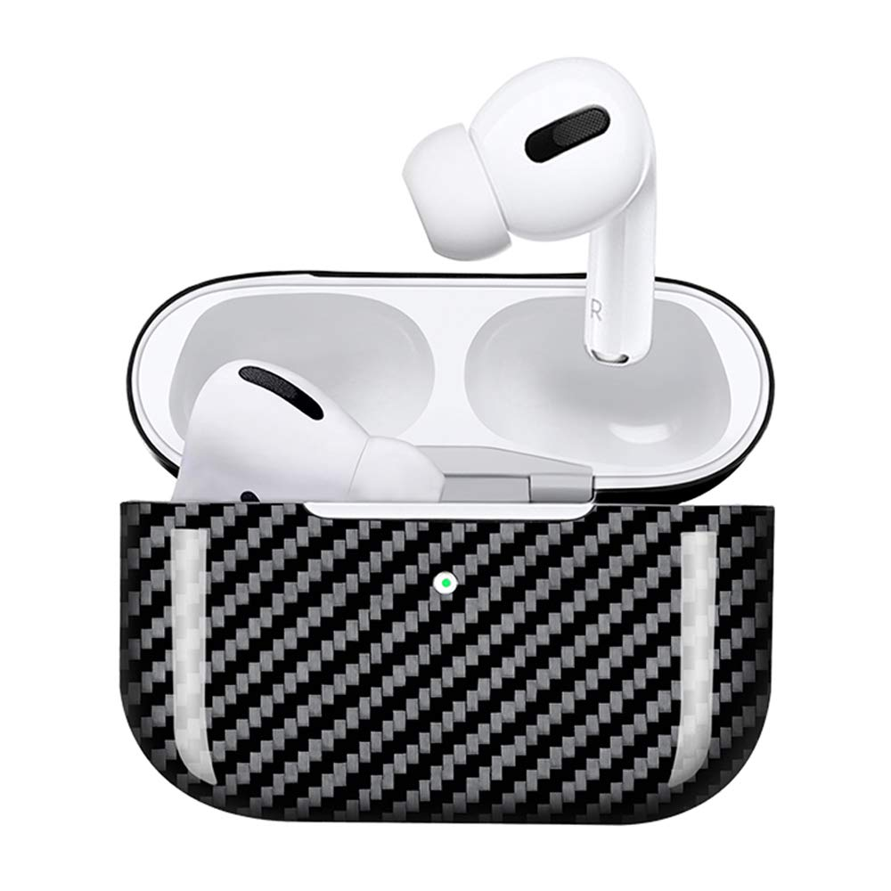 AirPods Pro 3 Case,Genuine Carbon Fiber Slim-Fit Super Thin Shockproof Aramid Fiber Cover and Skin Compatible with Apple AirPods Pro Earbuds Accessories Matte Black