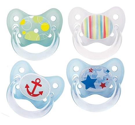 4 x Bebé Nova látex Chupete denti Star Talla 2 desde el ...