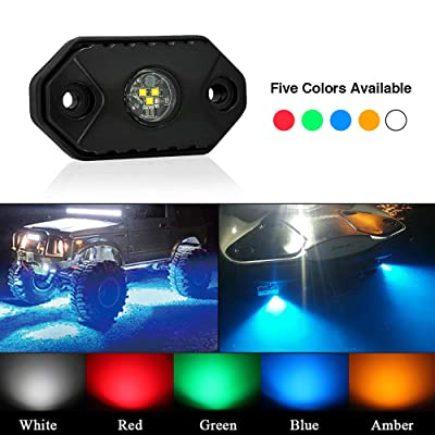 LED Rock Light TSAUTO IP68 IP69K Waterproof Underbody Glow Trail Rig Lamp CREE Underglow Deck Accent light(FBA Delivery) Crawling Lamp Interior Exterior for Truck Jeep ATV UTV Offroad Boat (Green): Automotive