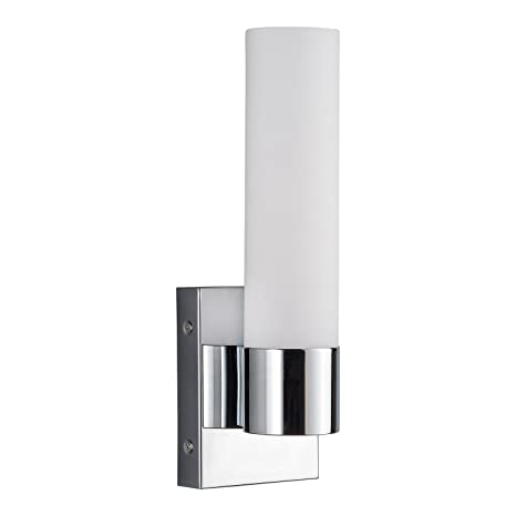 amazon com perpetua integrated led bathroom wall sconce chrome rh amazon com bathroom wall sconces polished chrome