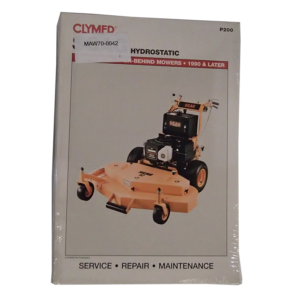 Amazon.com: P200 Service Manual For Scag Hydrostatic Commercial Walk-Behind  Lawn Mower: Industrial & Scientific