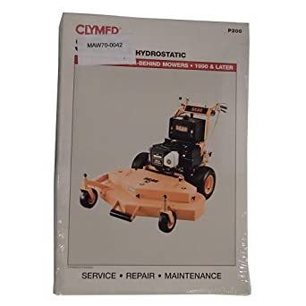 Amazon com: P200 Service Manual for Scag Hydrostatic Commercial Walk
