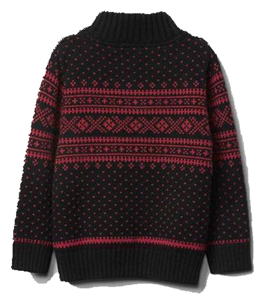 f0f56f35b Amazon.com: Baby Gap Boys Red Black Snow Day!! Fair Isle Sweater 12-18  Months: Clothing