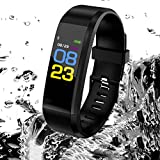 Uhruolo Bluetooth Fitness Tracker,Color Screen Smart Watch Kids Smart Bracelet Smart Pedometer Sports & Outdoors Running GPS Units Waterproof Smart Watch