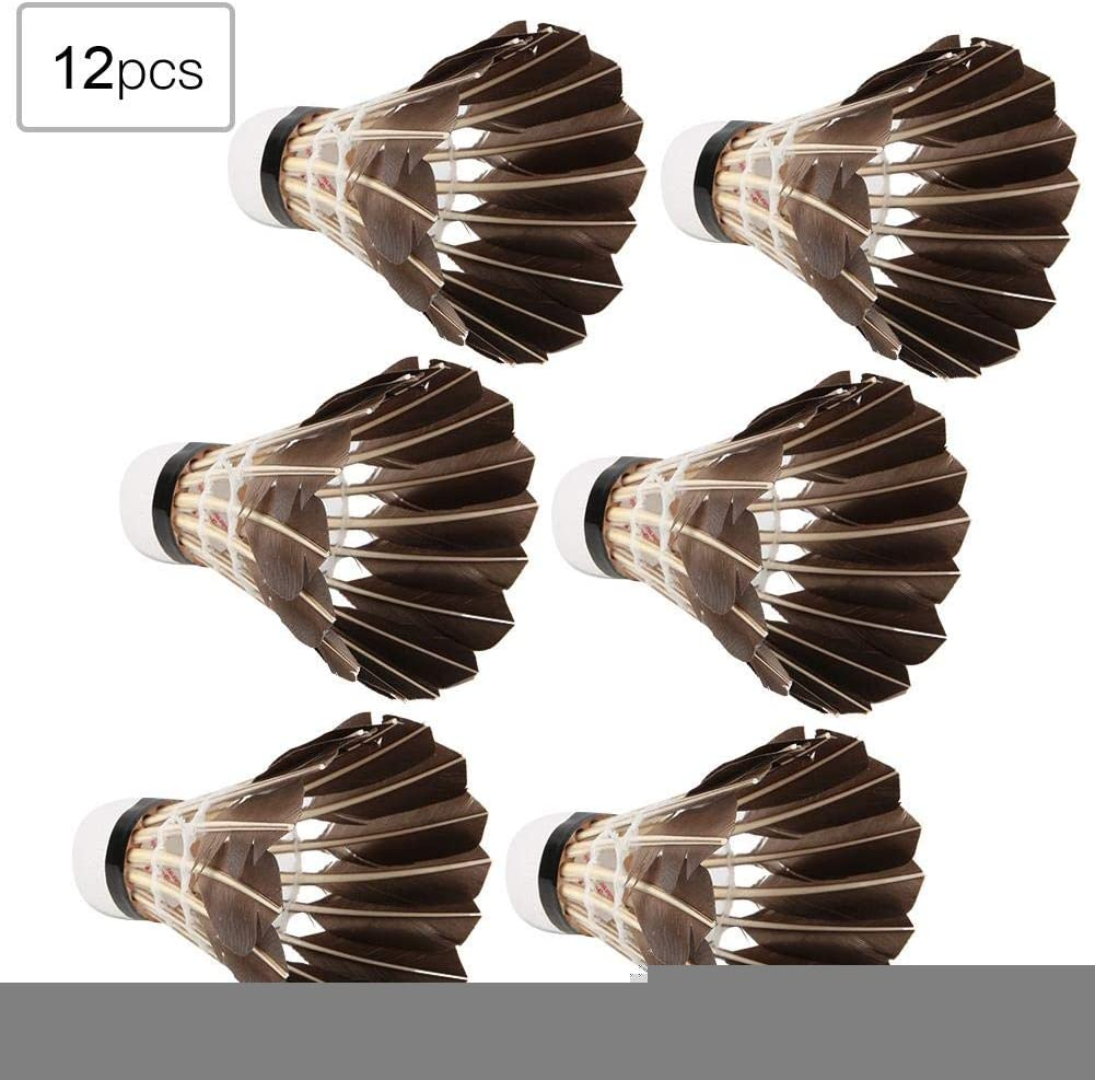 VGEBY1 Bola de b/ádminton Volantes de Pluma de Ganso de Alta Velocidad de Gran Estabilidad de 12 Piezas para Entrenamiento de b/ádminton