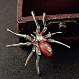 METTU Alloy Inlaid Zircon Crystal Insect Brooch Pin Variety Optional, Lovely Creative Insects Brooch Fashion Jewelry
