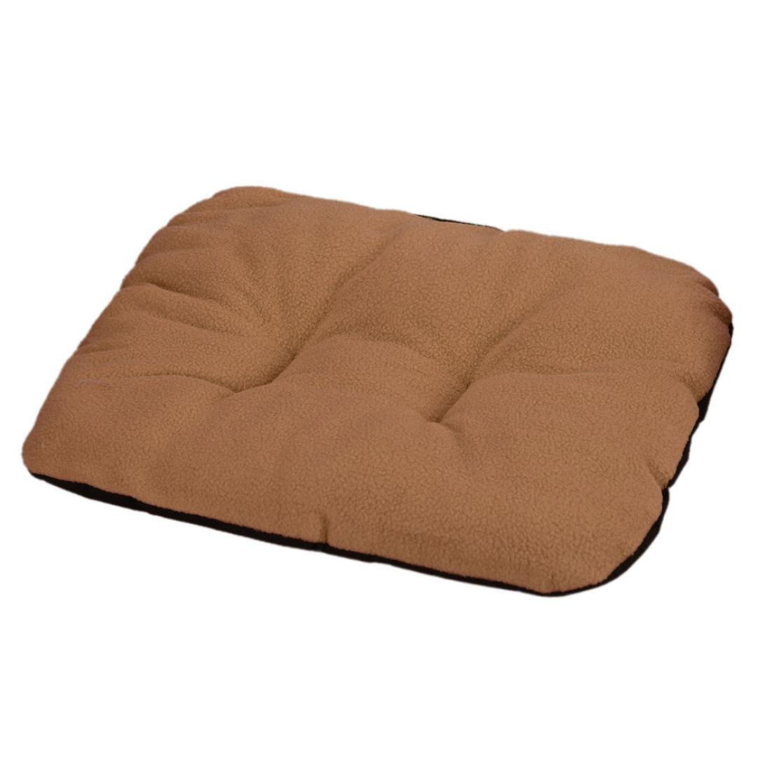 Perman Puppy Blanket Pet Carpet Cushion Dog Cat Cotton Bed Soft Warm Sleep Mat (Brown )