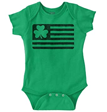 Amazoncom Brisco Brands St Patrick Day Funny Shirt Shamrock Flag