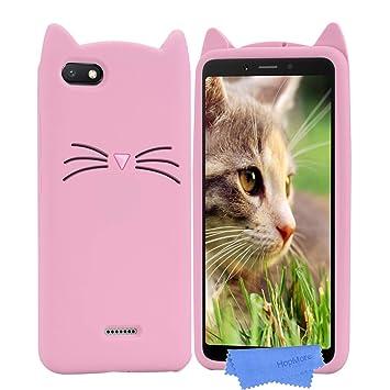 HopMore Gato Funda para Xiaomi Redmi 6A Silicona Motivo 3D Divertidas Gato TPU Gel Kawaii Carcasa Redmi 6A Ultrafina Slim Case Antigolpes Caso ...