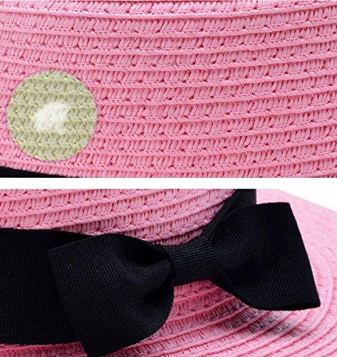 Kuyou - Capeline - Femme noir beige taille unique -  rose - Taille Unique