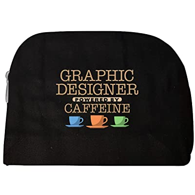 Graphic Designer Powered By Caffeine - Cosmetic Case