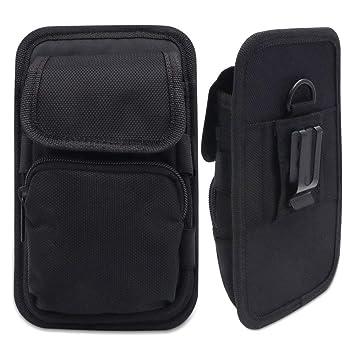 Beeasy Bolsa para Móvil con Clip para Cinturón,Bolsa Cinturon Phone Holster Compatible con iPhone/Xiaomi Redmi/Samsung Galaxy/Huawei,Negro