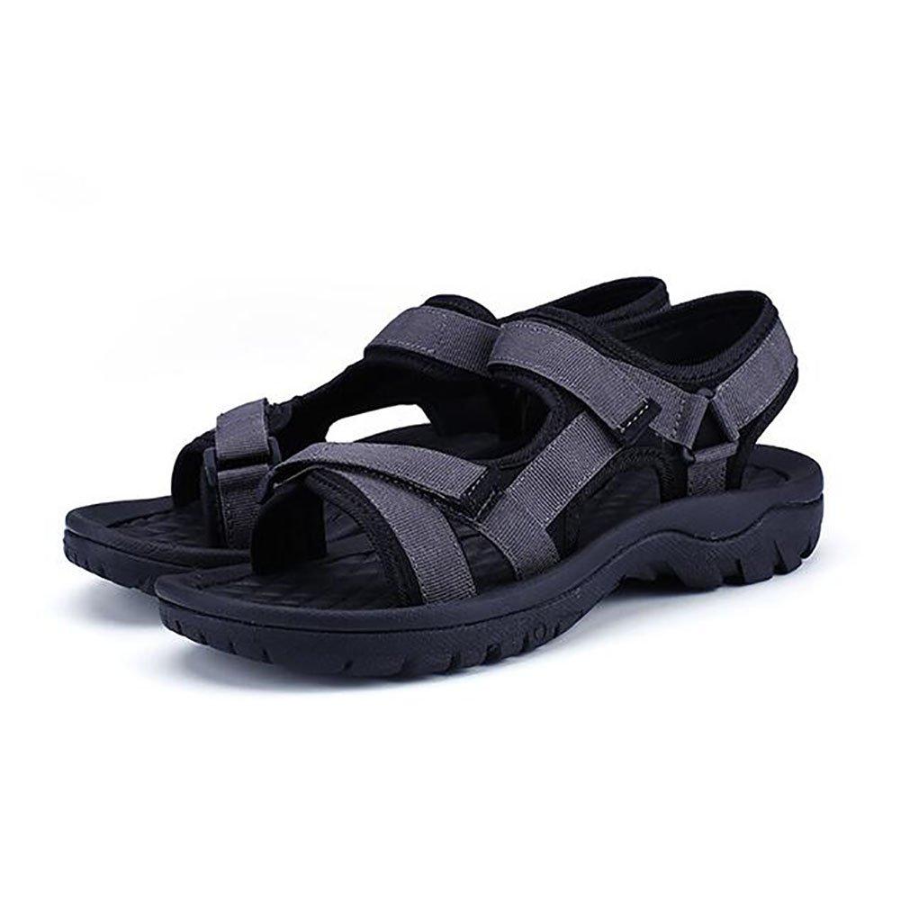 QSYUAN Zapatos De Hombre Summer New Casual Peas Shoes Planas Y Antideslizantes Sandalias Y Promenade Velcro Usables,Gray,39 39|Gray