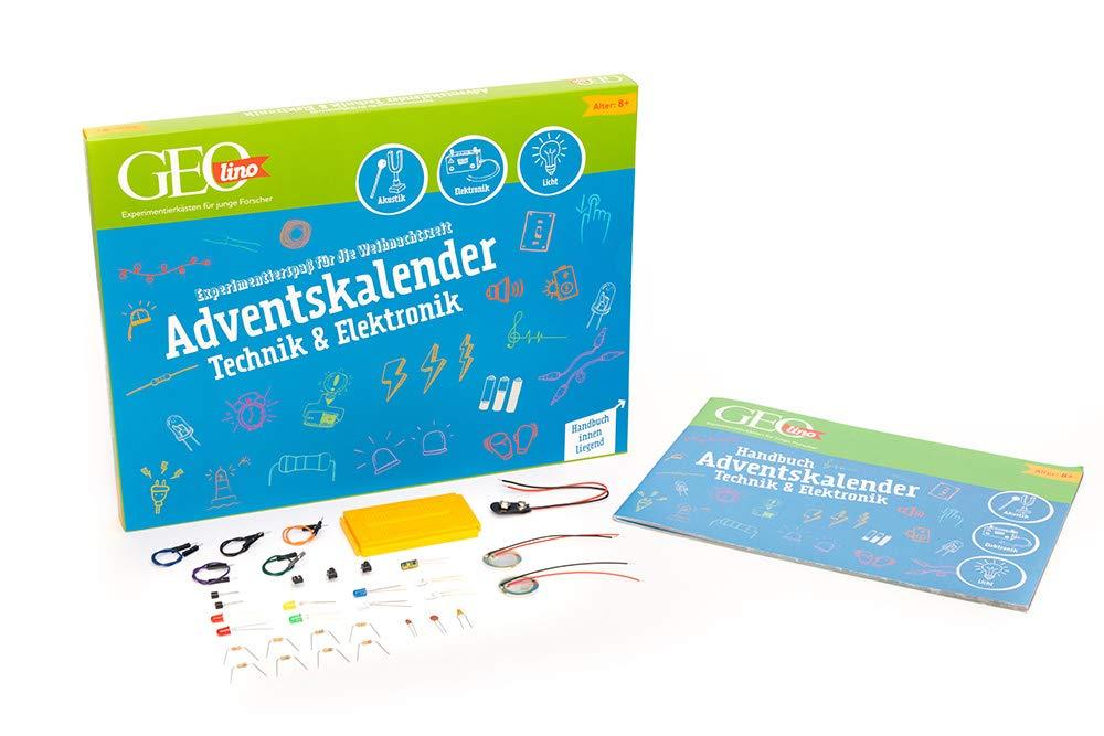 FRANZIS GEOlino Adventskalender 2020 | 24 spannende Experimente aus der Technik und Elektronik | Ab 8 Jahren: Experimentierspaß für die Weihnachtszeit
