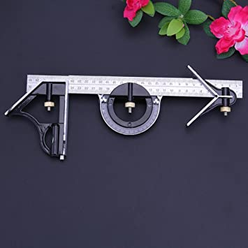 Flameer 0-180 Degree Precision Universal Protractor Combination Square Ruler Set