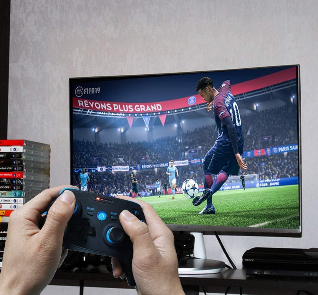 Bluetooth Android//iOS M/óvil Mando de Juegos con Soporte Retr/áctil 2.4G Inal/ámbrico PC//PS3//TV Mando Controlador Gamepad con Doble Vibraci/ón Maegoo Mando Inal/ámbrico para Android//iOS//PC//PS3//TV