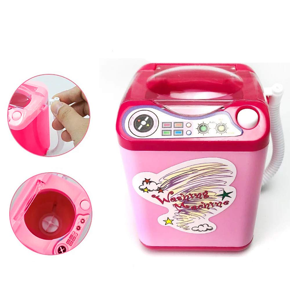 Washing Machine Toy,Besking Makeup Brush Cleaner Device Automatic Cleaning Washing Machine Mini Toy For Brushes, Sponge and Powder Puff Tiktok [Children Simulation Educational]