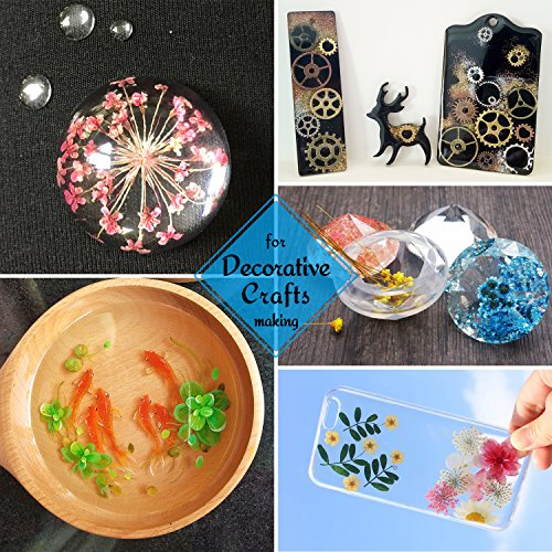 UV Resin - 200g Hard Type Crystal Clear Glue Ultraviolet Curing Epoxy Resin for Jewelry Making Craft Decoration - Transparent Solar Cure Sunlight Activated Resin for Resin Mold, Casting and Coating